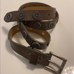 Brave belt skinny grey with studs